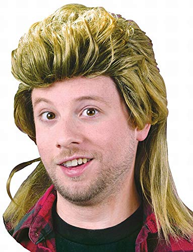 Fun World Men's Mullet Wig, yellow, Standard -