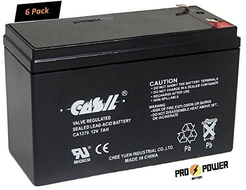 Merich Batteries ((6) CASIL 12V 7AH CA1270 Replacement Battery for Merich UPS400)