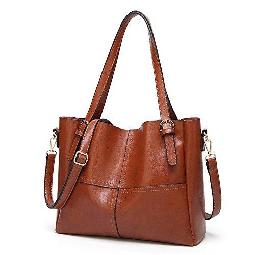 Bags Women's Casual Odomolor Handbags Fashion Shoulder Cross Pu Brown Zippers zgppAnxwqO