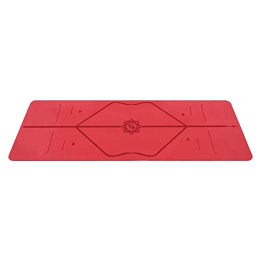 Liforme Love Travel Yoga Mat - The Worlds Best Eco-Friendly, Non Slip Yoga Mat with The Original Unique Alignment Marker System. Biodegradable & A ...