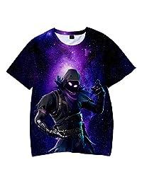 JUNEPPY Fortnite Battle Royale 3D Printing Boy's Summer Short Sleeve T-Shirts TEE