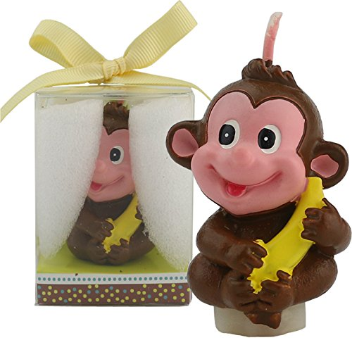 TinaWood Creative Little Monkey Cartoon birthday Candle, Smokeless Cake candle and Party Supplies, Hand-made Cake Topper Decoration, Great Gift