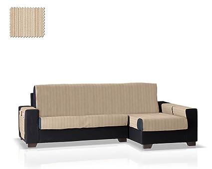 JM Textil Cubre sofá Chaise Longue Rino, Brazo Derecho, tamaño Normal (243 Cm.), Color 01