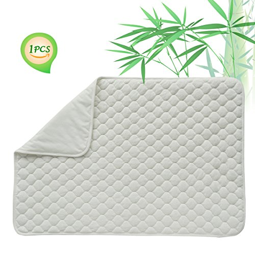 Quilted Pack N Play Crib Mattress Pad Liner Thicker Waterproof Changing Pad Liners by BlueSnail WHITE GOURD DESIGN 27X39 INCH (N/a Mattress Pads)