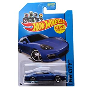 hot wheels 2014 hw city porsche panamera 40 250 blue toys games. Black Bedroom Furniture Sets. Home Design Ideas