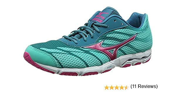 MizunoWave Hitogami 3 - Zapatillas de Running mujer , color Verde, talla 43 EU (9 UK): Amazon.es: Zapatos y complementos