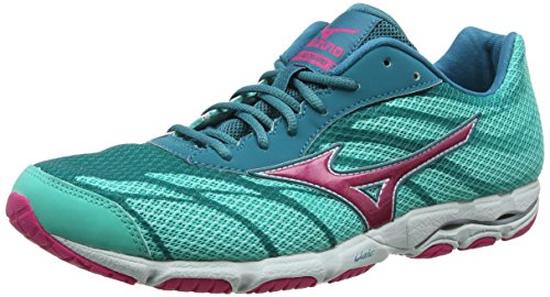 3 Wave Damen Mizuno Green Laufschuhe Harbor Hitogami Rose Atlantis Carmine Blue xEqga