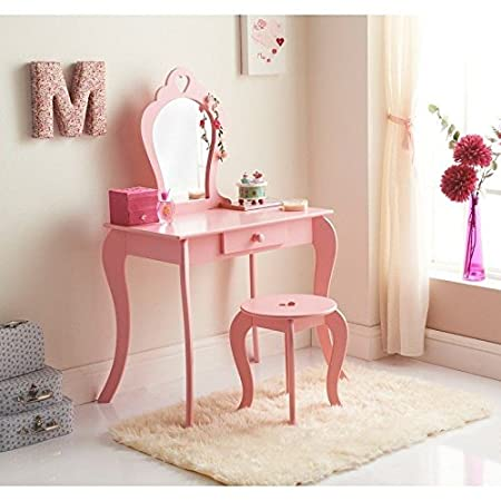Caprican Amelia Vanity Childrens Girls Pink Wooden Dressing Table