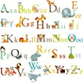 Classic Animals Alphabet Baby Nursery Peel & Stick Wall Art Sticker Decals