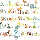 Animals Alphabet Baby Nursery Peel and Stick Wall Art Sticker Decals for Boys and Girls, Baby & Kids Zone