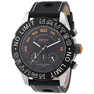 Nautec No Limit DK QZ/LTSTBK - Men's Watch, Leather, Color: Black
