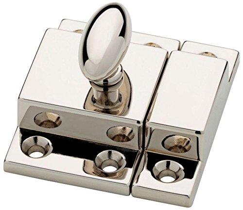 - Polished Nickel Cabinet Door Latch with Catch Antique Cabinet, Cupboard & Other Vintage Furniture Reproduction Restoration Hardware + Free Bonus (Skeleton Key Badge) LQ-P21221C-PN-C (1)