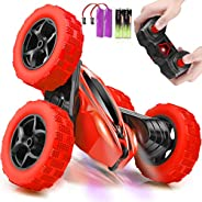 Remote Control Car, ORRENTE RC Cars Stunt Car Toy, 4WD 2.4Ghz Double Sided 360° Rotating RC Car with Headlight