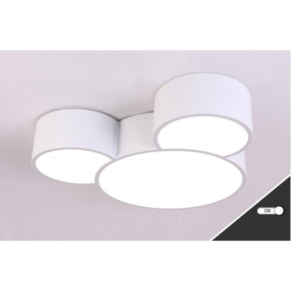 Ceiling light Simple modern mouse room boy girl bedroom amusement park Children's room ( Color : White , Size : C(with remote control) )