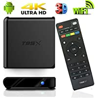 Android 6.0 TV BOX,Funtoy T95X Media Player Amlogic S905X 64Bit Quad Core 4K HDMI Support HEVC UHD DLNA Airplay VS TX3 Pro MXQ Set top box