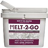 Snow Joe AZ-25-IB-BKT Melt-2-Go Natural Beet Juice Extract + CMA Enriched Ice Melter 25 lb Flip-Top Bucket with Scooper