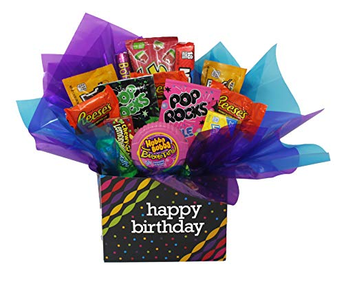 Happy Birthday Gift Box with Popular Name Brand Chocolate and Candy. ()