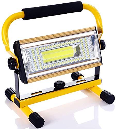LED Arbeitsleuchte Wiederaufladbare, 100W 12000MAh Superhelle AKKU LED Baustrahler Flutlicht für Stromausfällen…