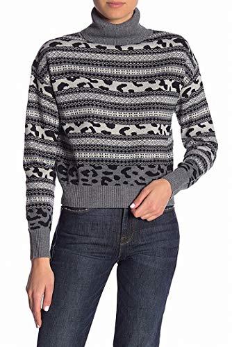 John + Jenn Womens Small Fair Isle Turtleneck Sweater Blacks ()