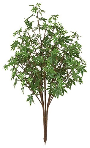 Amazoncom 48 Inch Outdoor Artificial Maple Bush Green