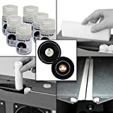 14 Piece Bundle for Audio Desk Systeme Ultrasonic Vinyl, Record, Album, LP Cleaning Machine includes 1 Set A-rings 6 Fluid Solutions, 2 Wipers, 4 Microfiber Barrels, 1 Replacement Filter