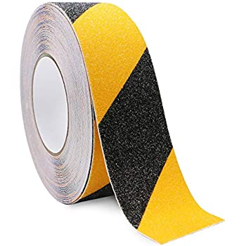 Welstik Tape Anti Slip Tape Not Easy Leaving Adhesive Residue Indoor /& Outdoor Non Skid Treads 2 Width x 16 Long, Black High Traction,Strong Grip Abrasive