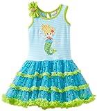 Rare Editions Little Girls' Mermaid Applique Tutu Dress