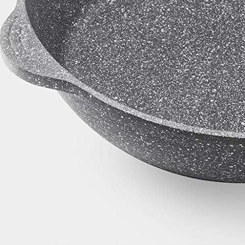 Pots anti-adhésives et casseroles Set Batterie de cuisine, en aluminium forgé antiadhésifs et Casserole Frying Pan Set, lait antiadhésive, 3 Piece