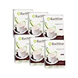 BariWise High Protein Powder Hot Drink/Instant Low-Carb Cappuccino Mix (15g Protein) – Original (7 Servings/Box) - Low Calorie, Low Carb, Low Fat, Aspartame Free - 6 Box Value Pack