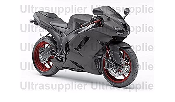 Amazon.com: Matte Black Injection Fairing Kit for 2007-2008 ...