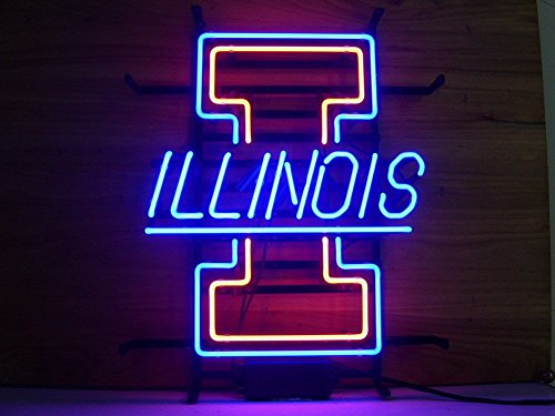 r Sport Teams UOI Beer Bar Neon Sign 3-Year Warranty-Best Choice! (Illinois Neon Sign)