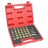 WIN.MAX 114pc Oil Pan Drain Sump Plug Key Thread Repair Tool Kit Set Drain Plug