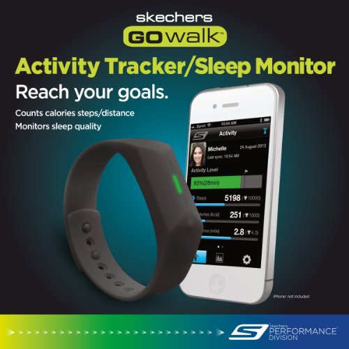 Skechers Go Walk Activity Tracker/Sleep Monitor, Black