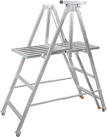 C-J-Xin Marco de la escalera multifuncional, muebles al aire libre Plataforma rodante Escalera conveniente y práctico Escalera fuerte apoyo for carga Escalera del taburete Escalera de casa: Amazon.es: Bricolaje y herramientas