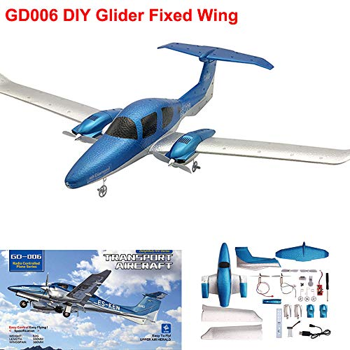PSFS Wingspan Remote Control DIY Glider Foam - Resistant Splicing Aircraft,2.4G 3-Axis Gyro 548MM Fixed Wing RC Airplane
