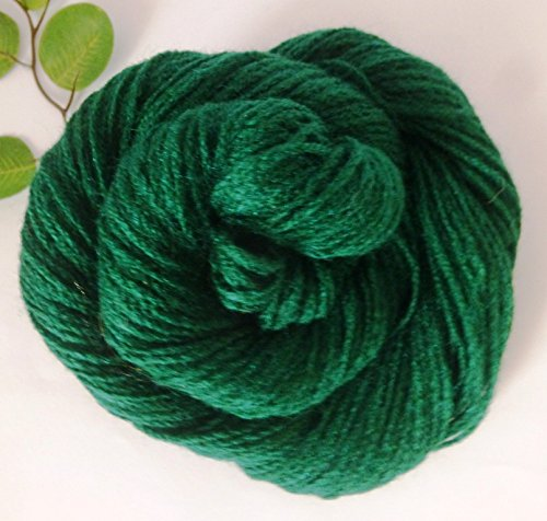 Dark Forest Green Fingering Washable synthetic Yarn