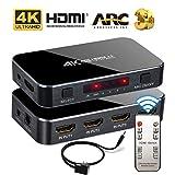 HDMI Switch 4x1 4K 60hz HD ARC Audio Optical TOSLINK HDCP 2.2 HDMI