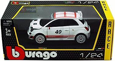 Fiat ABARTH 500 1:24 scale diecast white model metal die cast models car