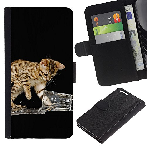 EuroCase - Apple Iphone 6 PLUS 5.5 - Cute Funny Cat Playing - Cuir PU Coverture Shell Armure Coque Coq Cas Etui Housse Case Cover