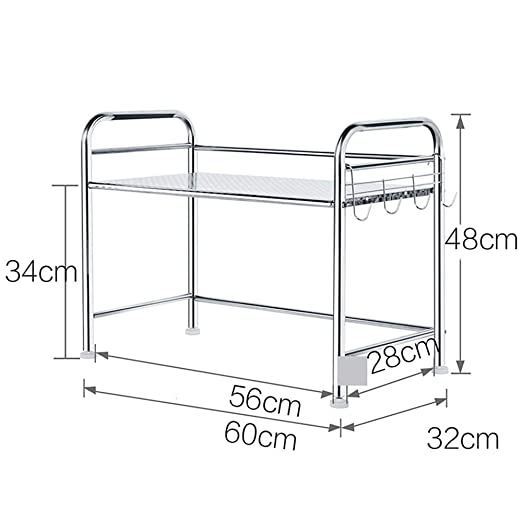 WYJW Kitchen Baker s Rack Utility Trolley, Acero Inoxidable ...