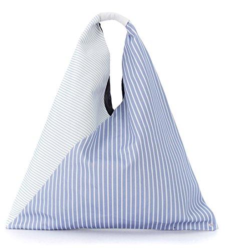And Shopper Women's White Margiela Fabric Light Maison Blue Mm6 ITqx0EwAx