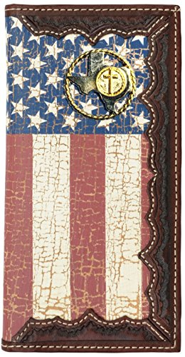 Texas United Wallet Cross Rope Distressed Flag Custom and American States Flag with Long C4dwWqx