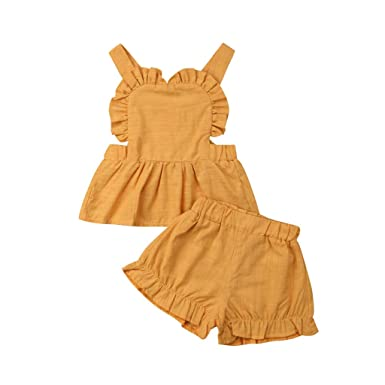 Conjuntos de Ropa para Bebés Niña Camiseta sin Mangas con ...