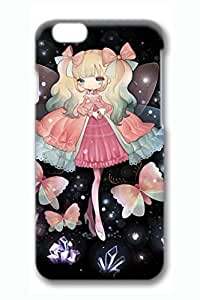 Anime Butterfly Princess Cute Hard Cover For iPhone 6 Case (4.7 inch) PC 3D Cases