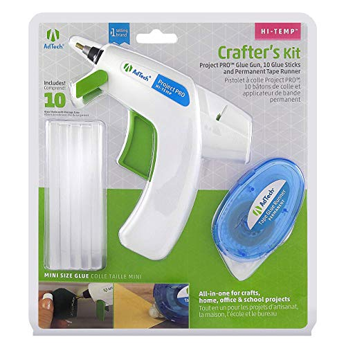 Price comparison product image AdTech W05643 Crafter's Gift Pack with Detailer Glue Gun,  Clear Glue Sticks and Glue Runner