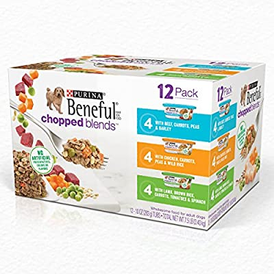Purina Beneful Chopped Blends Adult Wet Dog Food Variety Pack - (12) 10 oz. Tubs