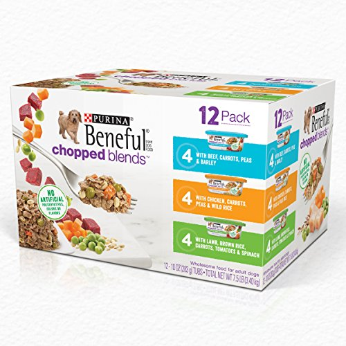 Purina Beneful Wet Dog Food Variety Pack; Chopped Blends - (12) 10 oz. Tubs