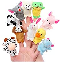 Babique Animal Finger Puppet Soft Toys for Baby Boy and Girl (Set of 10)