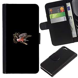 Protector de cuero de la PU de la cubierta del estilo de la carpeta del tirón BY RAYDREAMMM - Apple Iphone 6 - Minimalista Parrot Tree