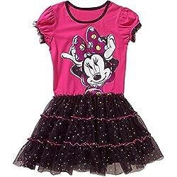 Disney Little Girls' Minnie Tutu Dress, Pixy Pink, Small/6/6X